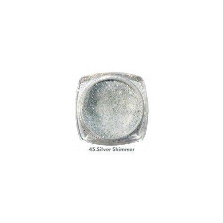 Akryl kolorowy 3,5g, Silver Shimmer 45