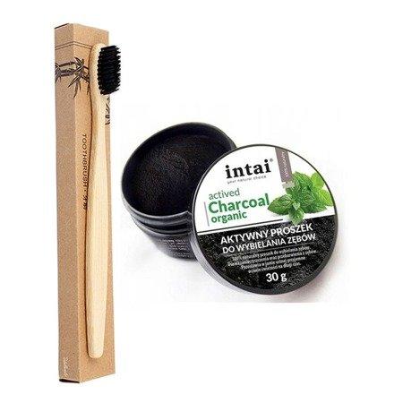 Intai Węgiel aktywny + szczoteczka bambusowa EKO