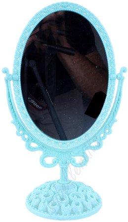 Lustro obrotowe dwustronne w stylu rustykalnym - kolor miętowy sz009