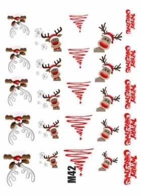 Naklejki świąteczne na paznokcie M42