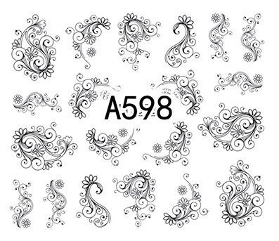 Naklejki wodne A598