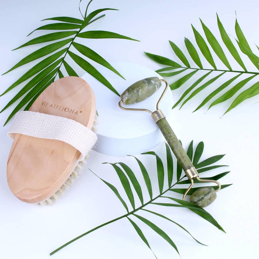 Szczotka naturalna do masażu na sucho