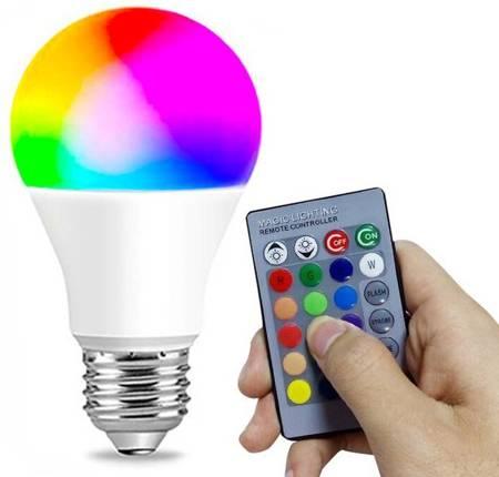 Żarówka LED kolorowa 16 kolorów E27