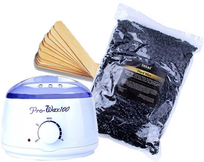 Zestaw podgrzewacz Pro-Wax 100 + wosk  INTAI w granulkach 1000g